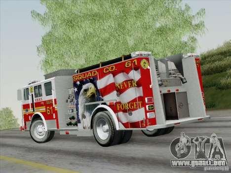 Seagrave Marauder. F.D.N.Y. Squad 61. para GTA San Andreas left