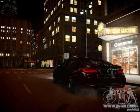 BMW 750Li 2013 para GTA 4 vista interior