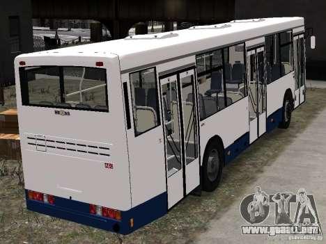 NEFAZ-5299 10-15 para GTA 4 vista hacia atrás