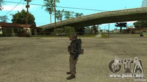 Captain Price para GTA San Andreas sucesivamente de pantalla