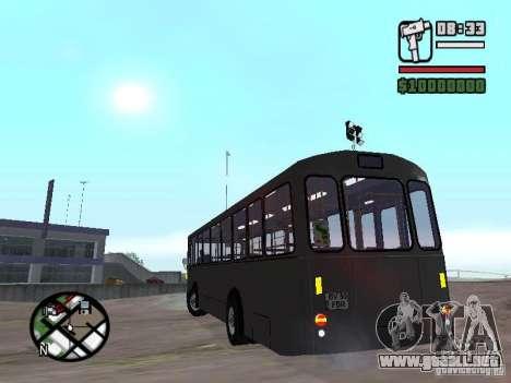 FBW Hess 91U para GTA San Andreas vista hacia atrás