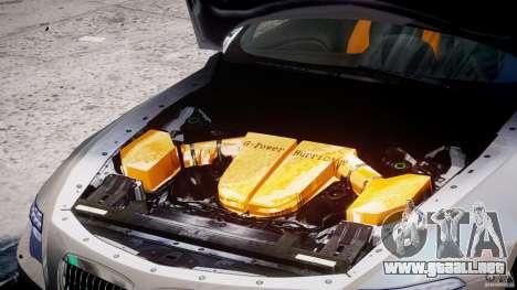 BMW M6 G-Power Hurricane para GTA 4 vista hacia atrás