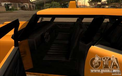 Glendale Cabbie para GTA San Andreas vista posterior izquierda