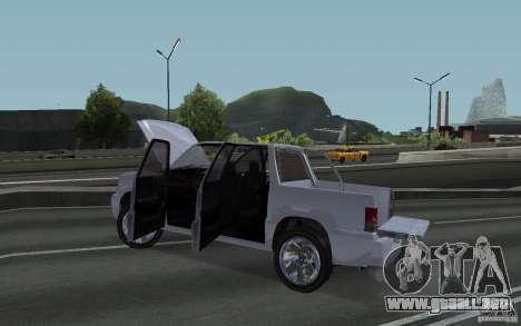 Cavalcade FXT de GTA 4 para GTA San Andreas vista hacia atrás