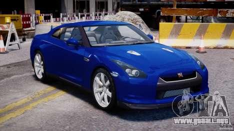 Nissan Skyline GT-R R35 para GTA 4 vista hacia atrás