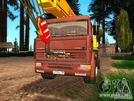 KAMAZ 6520 KS3577-3 k Ivanovets para GTA San Andreas vista hacia atrás