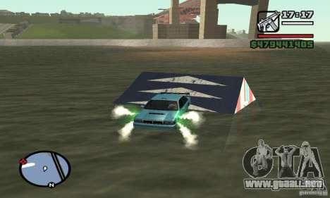 El trampolín para GTA San Andreas tercera pantalla
