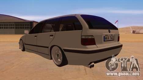 BMW M3 E36 Touring para GTA San Andreas vista posterior izquierda