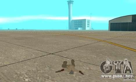 Actdead para GTA San Andreas sucesivamente de pantalla