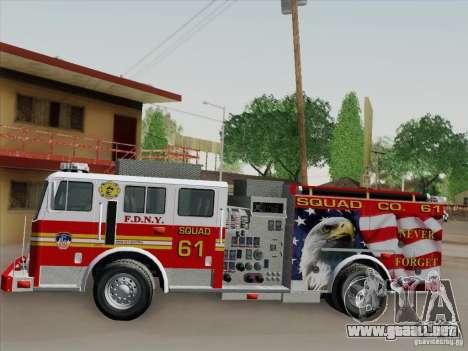 Seagrave Marauder. F.D.N.Y. Squad 61. para GTA San Andreas interior