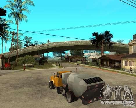 Camión de limpieza para GTA San Andreas left