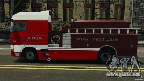 DAF XF Firetruck para GTA 4 left