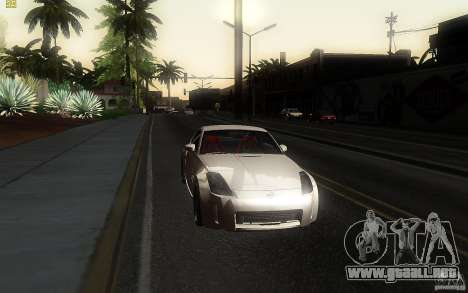 Nissan 350z Speedhunters para GTA San Andreas vista hacia atrás