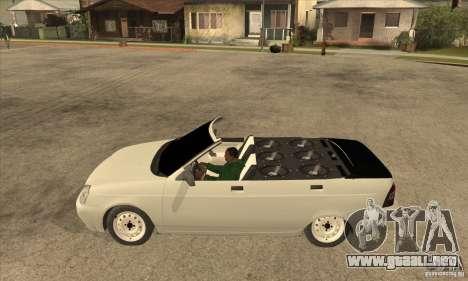 VAZ LADA Priora convertible para GTA San Andreas left