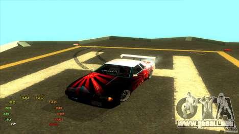 Paquete de vinilo para Elegy para GTA San Andreas quinta pantalla