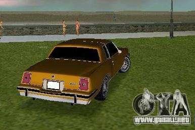 Pontiac Grand Prix para GTA Vice City visión correcta