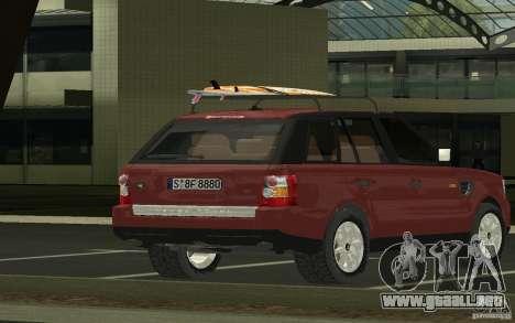 Land Rover Range Rover 2007 para GTA San Andreas left