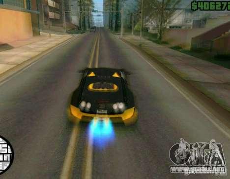 Bugatti Veyron Super Sport final para GTA San Andreas vista hacia atrás