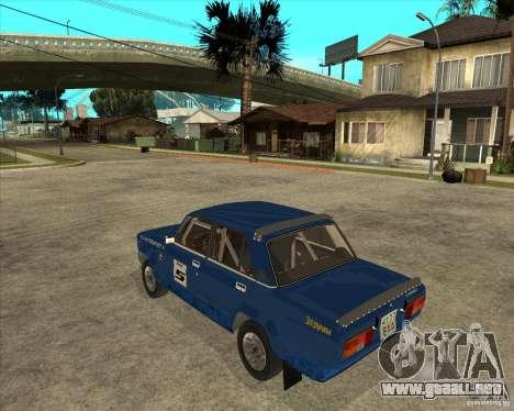 Rally de VFTS LADA 2105 para GTA San Andreas left