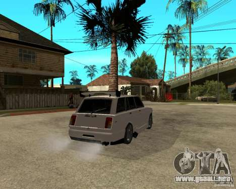 VAZ 2104 duro ajuste para GTA San Andreas vista posterior izquierda