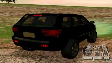 Dodge Durango 2012 para GTA San Andreas vista posterior izquierda