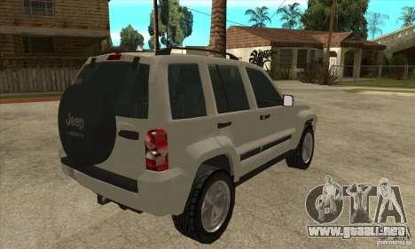Jeep Liberty 2007 Final para la visión correcta GTA San Andreas