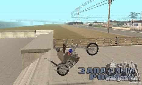 Captain America Chopper para la visión correcta GTA San Andreas
