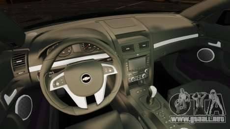 Chevrolet Lumina 2009 Mr. Bolleck Edition para GTA 4 vista interior