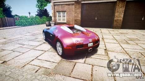 Bugatti Veyron 16.4 v3.0 2005 [EPM] Machiavelli para GTA 4 Vista posterior izquierda