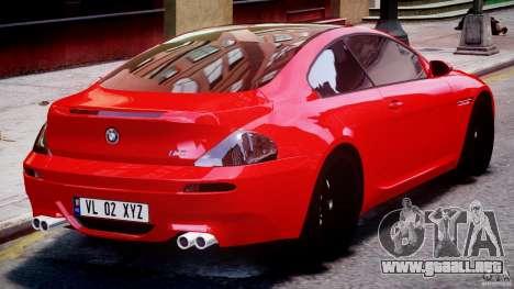 BMW M6 Orange-Black Bullet para GTA 4 vista superior