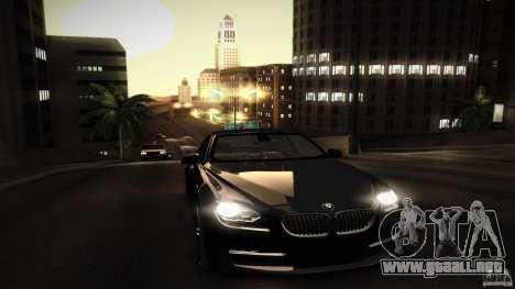 BMW 640i Coupe para vista inferior GTA San Andreas