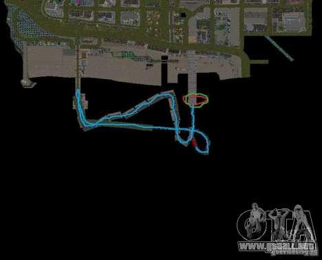 Night moto track V.2 para GTA San Andreas octavo de pantalla