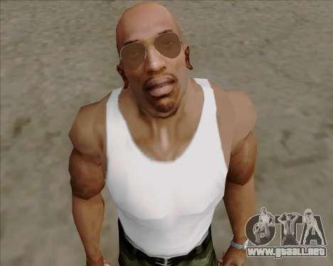 Brown anteojos aviadores para GTA San Andreas sucesivamente de pantalla