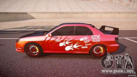 Subaru Impreza WRX STI para GTA 4 left