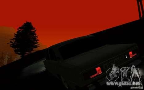 VAZ 2106 Tyumen para visión interna GTA San Andreas