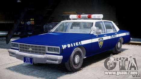 Chevrolet Impala Police 1983 [Final] para GTA 4 vista lateral