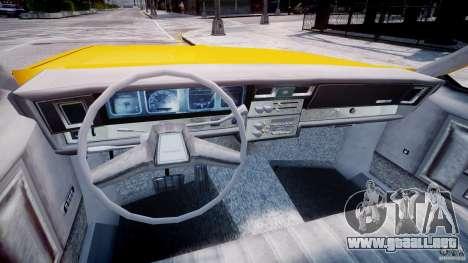 Chevrolet Impala Taxi 1983 para GTA 4 vista hacia atrás