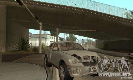 BMW X6 para visión interna GTA San Andreas