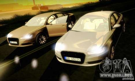 Audi A6 2012 para vista lateral GTA San Andreas