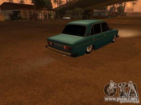 Hobo 2106 VAZ para GTA San Andreas vista hacia atrás