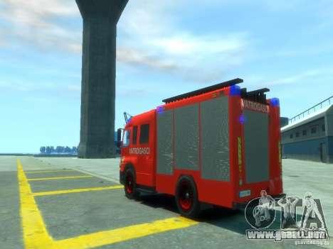 Mercedes-Benz Atego Fire Departament para GTA 4 Vista posterior izquierda