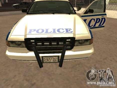 La policía de GTA4 para vista lateral GTA San Andreas