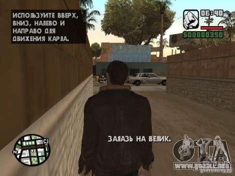 Niko Bellic para GTA San Andreas sucesivamente de pantalla