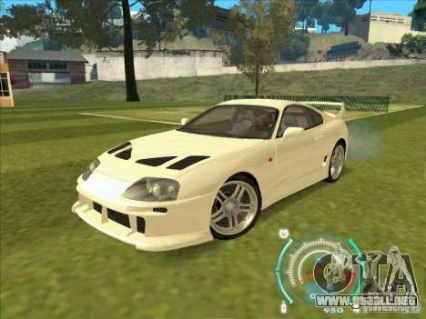 Toyota Supra from 2 Fast 2 Furious para GTA San Andreas left