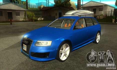 Audi RS6 Avant 2009 para GTA San Andreas