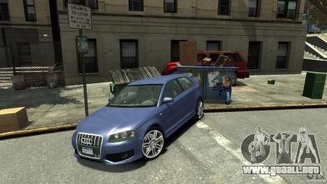 Audi S3 2006 v1.1 no es tonirovanaâ para GTA 4 Vista posterior izquierda