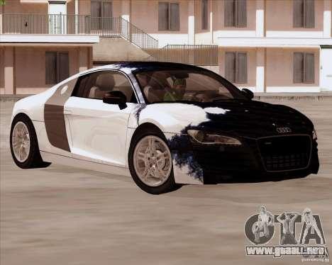Audi R8 Production para la vista superior GTA San Andreas