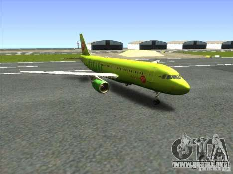 Airbus A-320 S7Airlines para GTA San Andreas vista posterior izquierda