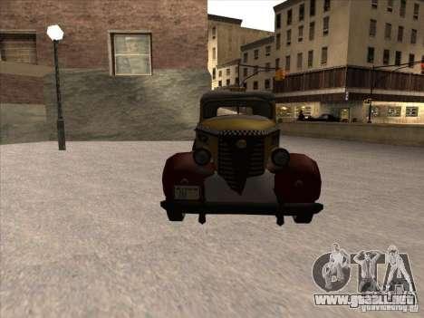 Shubert TAXI de MAFIA 2 para GTA San Andreas vista hacia atrás