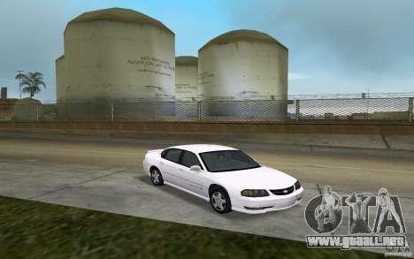 Chevrolet Impala SS 2003 para GTA Vice City vista posterior
